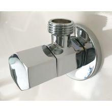 Válvula angular de latão prata cromada de 1/2 polegada
