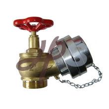 L102 alta qualidade bronze válvula de mangueira de incêndio com tampa de alumínio