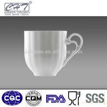 Gute Qualität weiße Porzellantee-Kaffeetasse Großverkauf