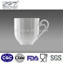 Tasse à café en porcelaine blanche de bonne qualité en gros