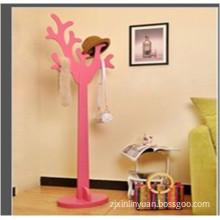 MDF Coat Tree, Colorful Coat Rack for Living Room (FY13038)
