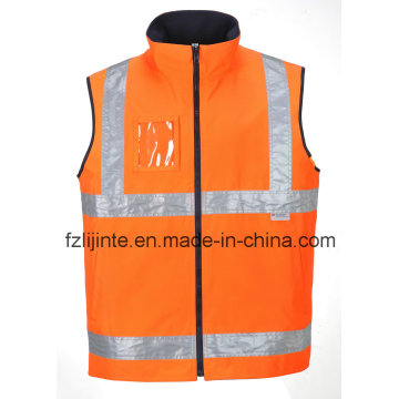 High Visibility Reversible Reflective Safety Vest