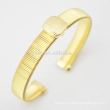 18K Gold überzogene Metallstulpe-Armband-Rohlinge gebildet in China