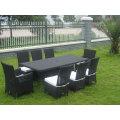 9PCS Classic Garden Wicker Chair Dining Set
