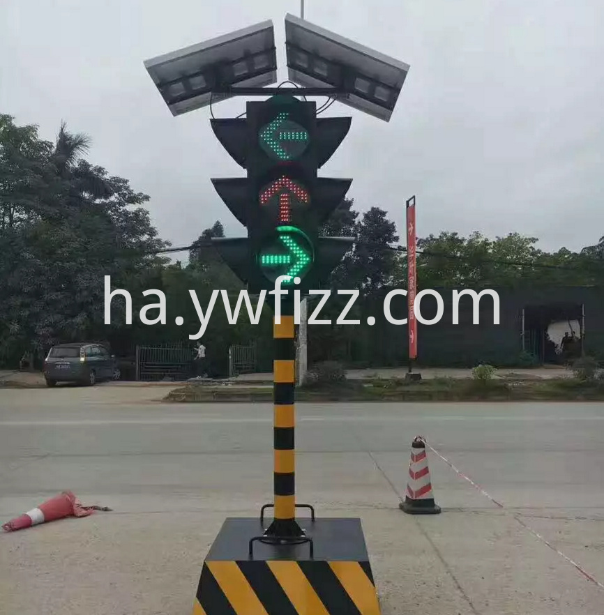 Bright solar traffic lights