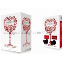 Saco de vinho em caixa / saco em caixa com dois bico / saco em caixa com 2 bicos