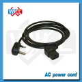 High quality PVC jacket 250V 16A south africa power cord