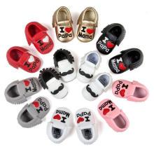 Pré-escolar infantil 0-1 anos Mocassins antiderrapantes Sapatos de bebê