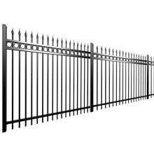 Coated Galvanized Wall Boundary Steel 2020 Hot Sale Anti Rust PVC Grills Garden Fence Steel,cast Iron Metal Powder Coated