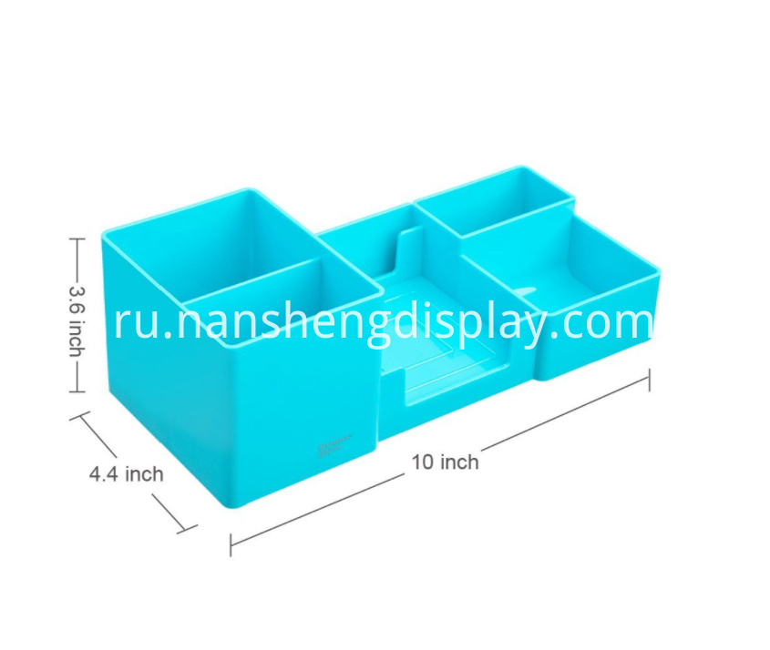 Blue Office Desk Organizer