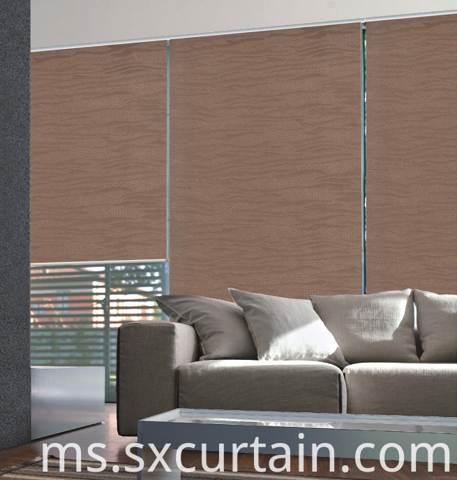 Roller Blackout Curtain Shade Jacquard Dyed