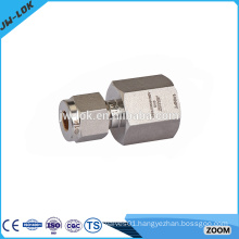 China double ferrule stainless steel tube fitting tee