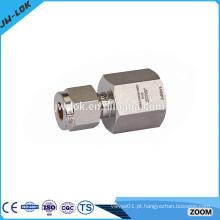 T de montagem de tubo de aço inoxidável de dupla dupla de China
