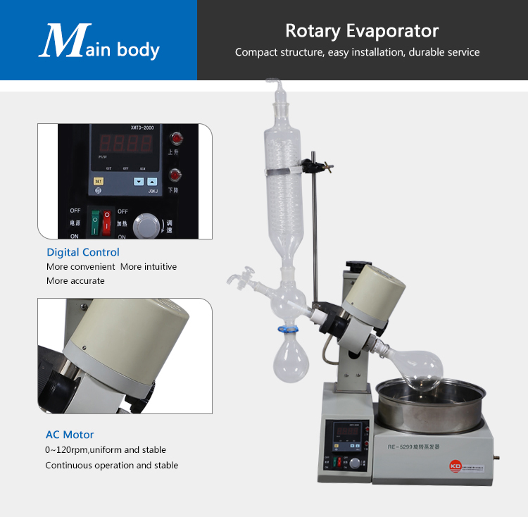Rising Film Rose Oil Extracting Rotary Evaporator