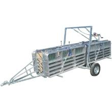 Ganadería Equipos portátiles Sheepyards con remolque de un solo eje