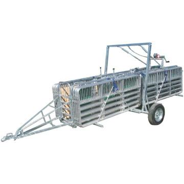 Sheepyards portatifs d'équipement d'élevage avec l'essieu simple de remorque