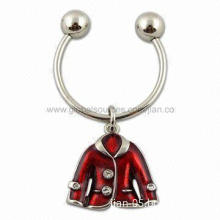 Customized Metal Keychain with 3D Design Feature, Made of Zinc-alloy Material