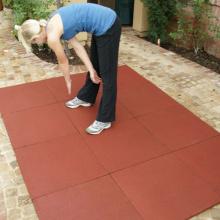 Safe Rubber Flooring Bricks For Gym Used
