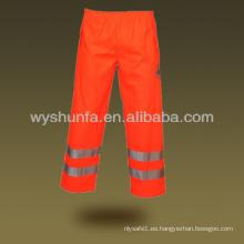 Pantalones de lluvia reflectantes
