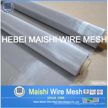 Tissu et écran en acier à mailles métalliques en acier inoxydable de type 316