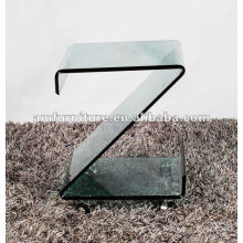 Mesa de centro de vidrio de 12 mm en caliente de tamaño Z