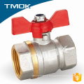 forjado de pulido de alimentación manual ppr tubería y hydrauic PN40 motorizado de válvula de fuego de latón válvula de bola con cerradura