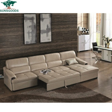 Multifunctional Home Living Room Modern Furniture Fold out Leisure Leather Sofa Bed
