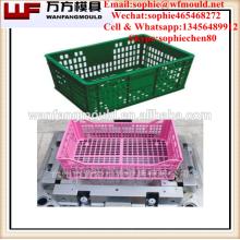 plastic fruit crate mould making/Taizhou OEM Custom plastic injection fruit crate mold making