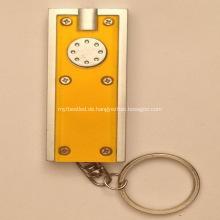 Werbe Kunststoff LED Square Taschenlampe Schlüsselanhänger
