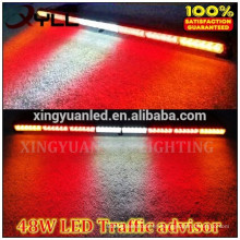 Barra de luz de flash de 48 LED, barra de luz trasera de luz de asesor de tráfico 48 vatios