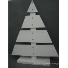 High Quality Christmas Wooden Tree in White Color Outdoor Display