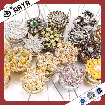 Curtain Accessories Magnetic Curtain Clips Home Decor Vase Golden