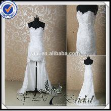 RSW137 кружева Sexy высокого низкого свадебное платье спереди короткие сзади длинные