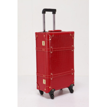 durable PU leather suitcase luggage
