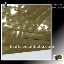 Lt. Gold Metallized Pet Film Film de poliéster metalizado