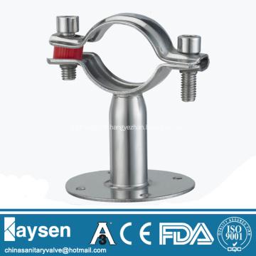 Porte-tube en acier inoxydable avec base circulaire