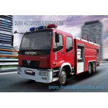 Camion de combat d'incendie de réservoir d'eau et de mousse de Foton 12cbm 6X4