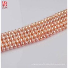 7-8mm Pink Semi-Finished Freshwater Pearl Necklace