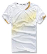 2014 格安卸売バドミントン t シャツ クラシック バドミントン スポーツ空白バドミントン ジャージを着用します。