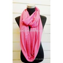 Bufanda hecha punto sólida del lazo de la bufanda del infinito de la manera de las señoras