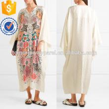 Impresión floral Jacquard Kaftan Fabricación Ropa de mujer de moda al por mayor (TA4086D)