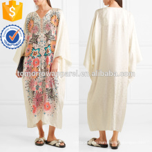 Floral-print Jacquard Kaftan Manufacture Wholesale Fashion Women Apparel (TA4086D)