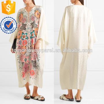 Floral-print Jacquard Kaftan Manufacture Wholesale Fashion Women Apparel (TA4086D)
