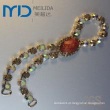 Moda Lady Checa cadeia de pedra Buckle ornamento da jóia