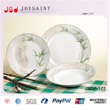 La última moda de porcelana Dinnerset más populares de cerámica de vajilla conjunto para la promoción baboom cena de diseño conjunto