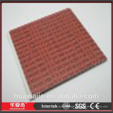 Red decorative wall covering panels