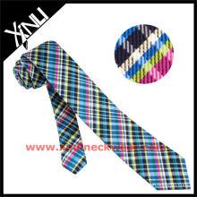 Black&White Warp Skinny Rhinestone Necktie