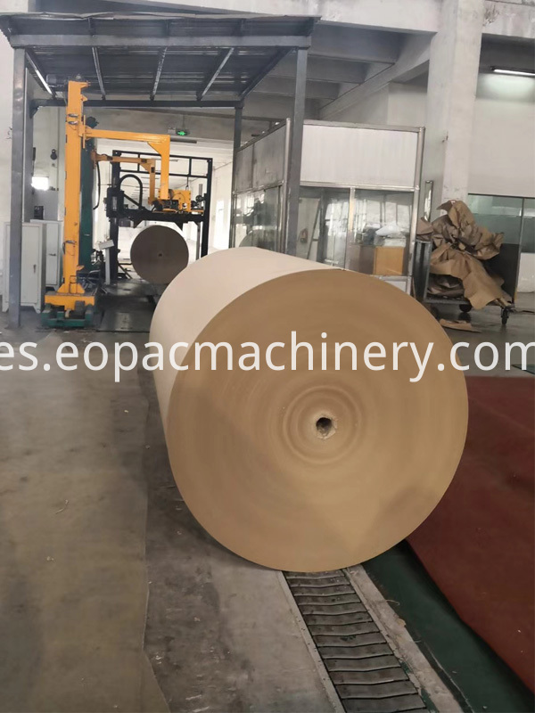 Jumbo Paper Roll Wrapping Conveying System