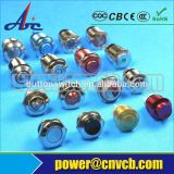 Yellow 16mm metal stainless steel momentary normally open waterproof switch button
