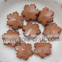 China Manufacturer European Brown Snowflake Shape Acrylic Solid 14MM Spacer Beads Sold By Bag